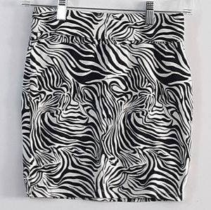 No Boundaries Zebra Print Pencil Skirt